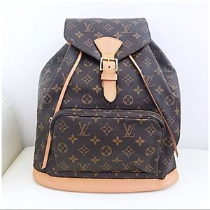 Louis Vuitton Montsouris GM Full Size Backpack LV